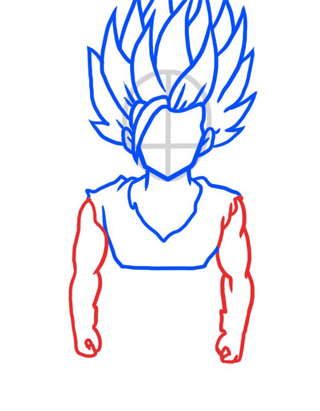 Learn easy to draw Gohan Dragon Ball Z step 05