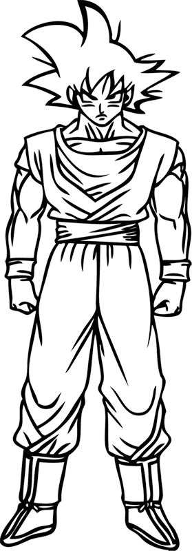 Learn easy to draw Goku Dragon Ball Z step 09