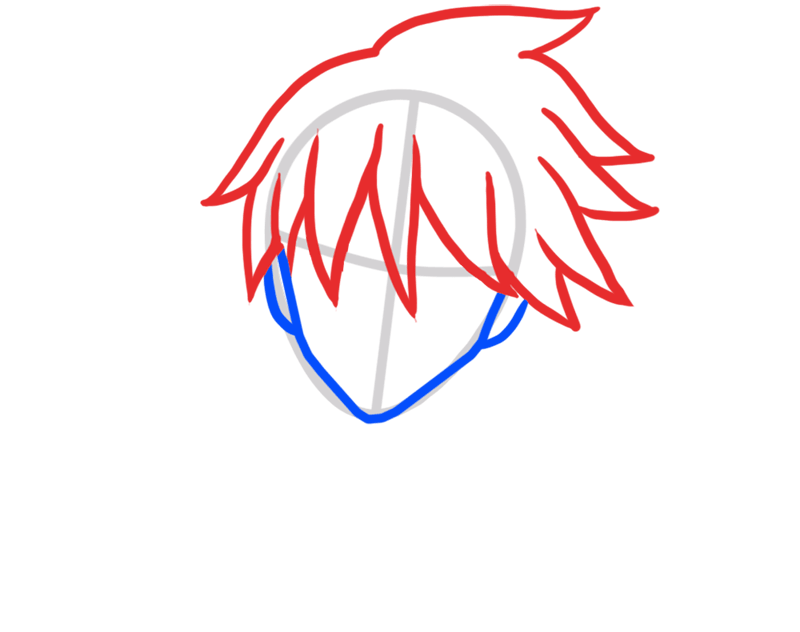 Learn easy to draw Hei Darker Than Black step 03