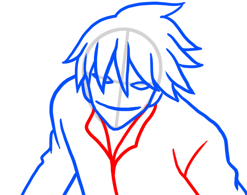 Learn easy to draw Hei Darker Than Black step 05