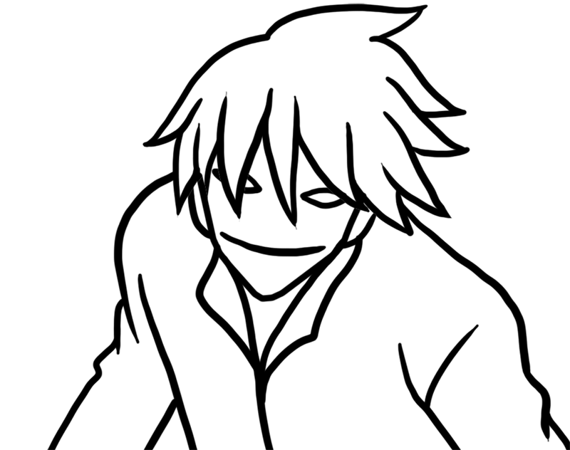 Learn easy to draw Hei Darker Than Black step 06