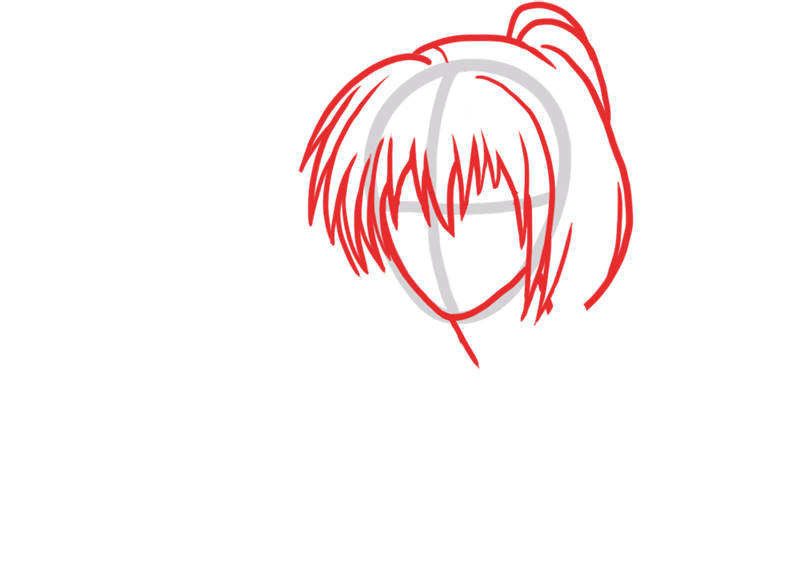 Learn easy to draw Himura Kenshin Samurai X step 02