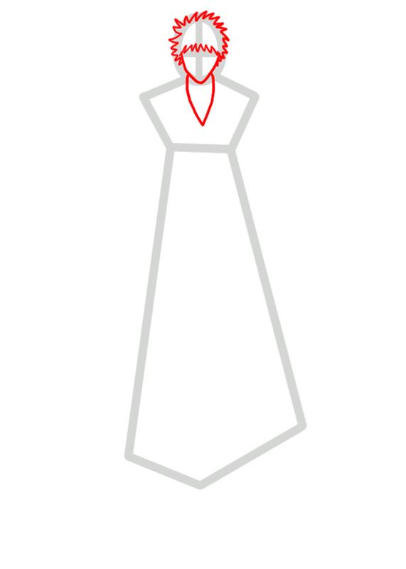 Learn easy to draw Ichigo Kurosaki Bleach step 02