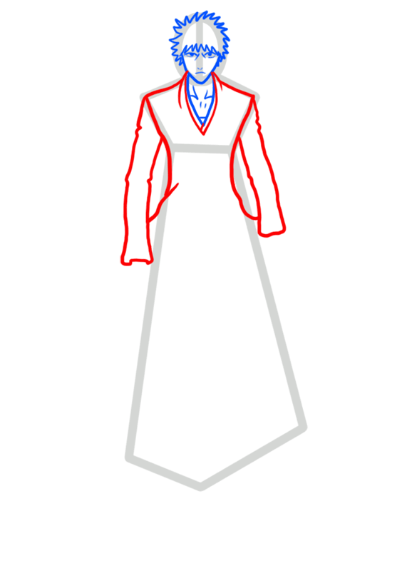 Learn easy to draw Ichigo Kurosaki Bleach step 04