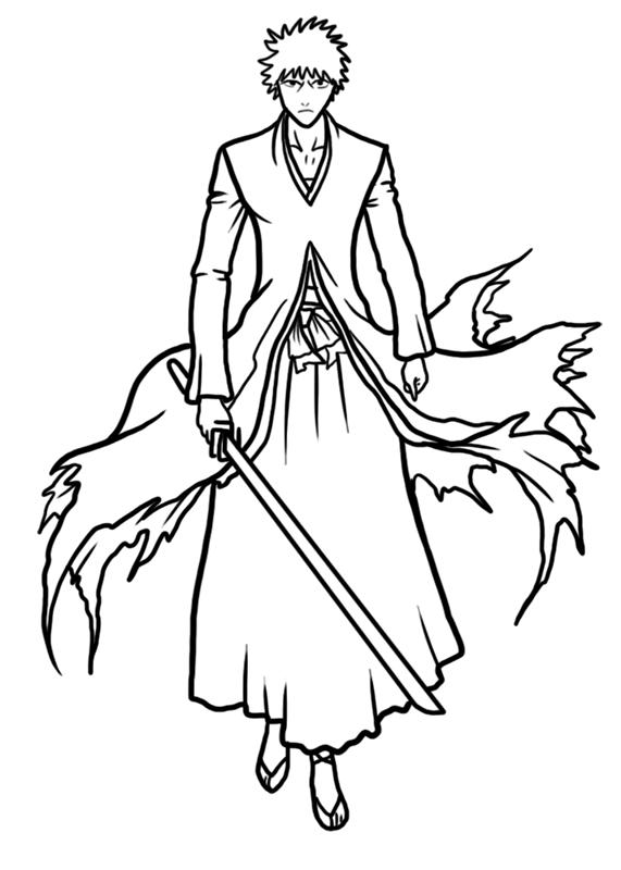 Learn easy to draw Ichigo Kurosaki Bleach step 09