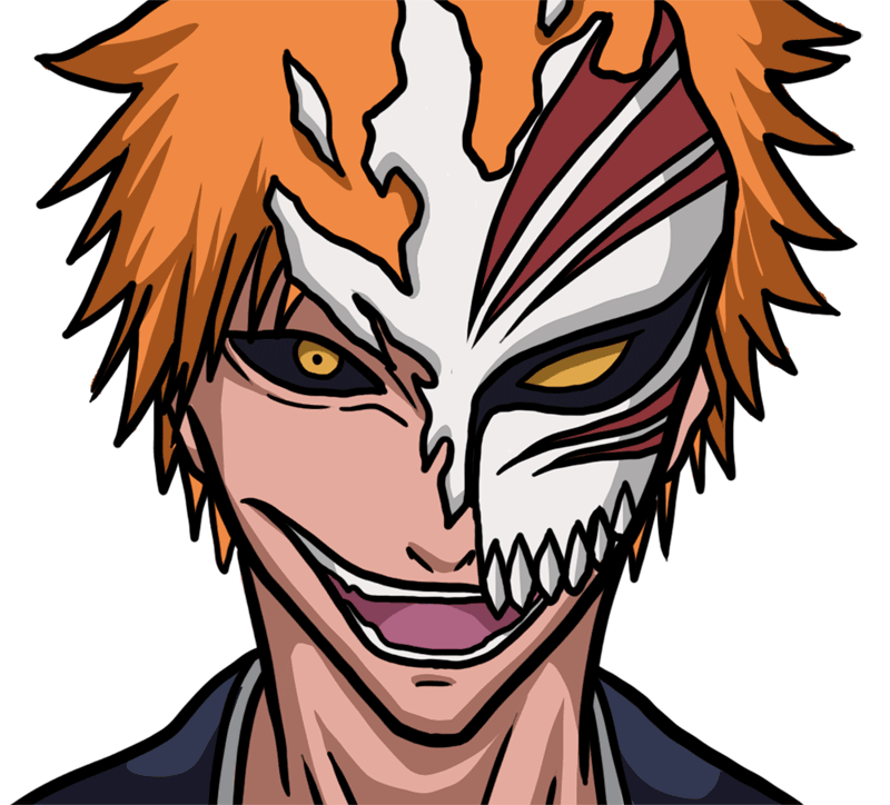 Learn easy to draw Ichigo Mask Bleach step 00