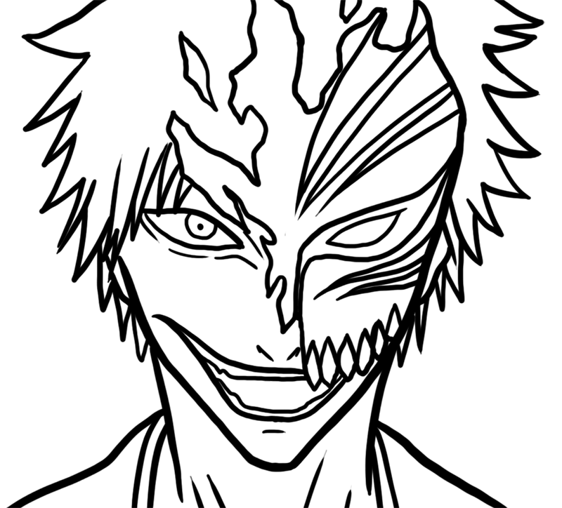 Learn easy to draw Ichigo Mask Bleach step 06