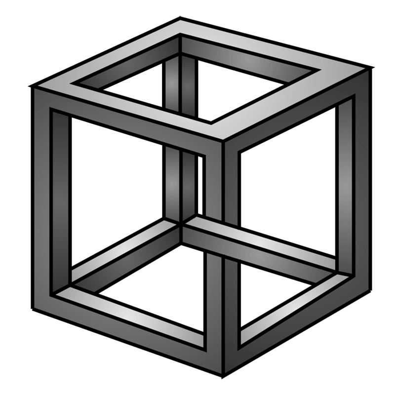 Learn easy to draw Impossible Cube step 00