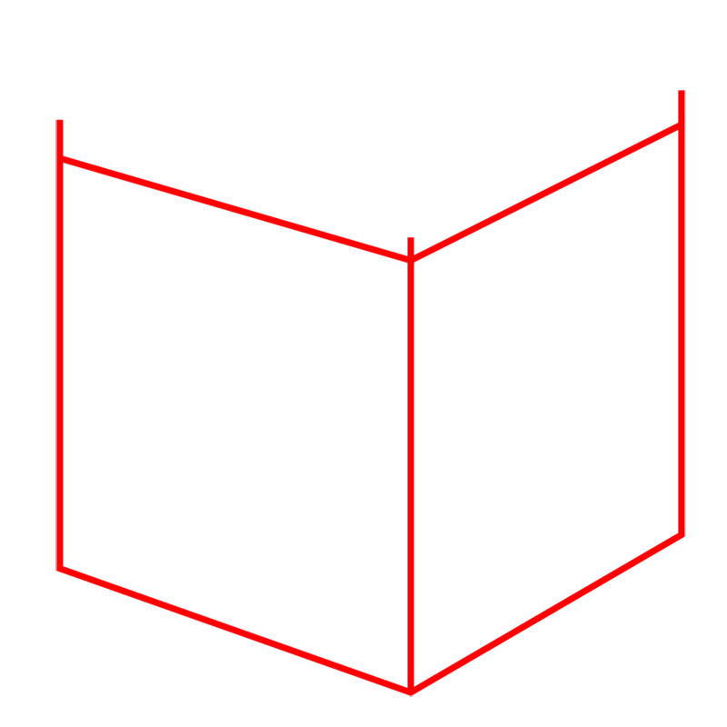 Learn easy to draw Impossible Cube step 01