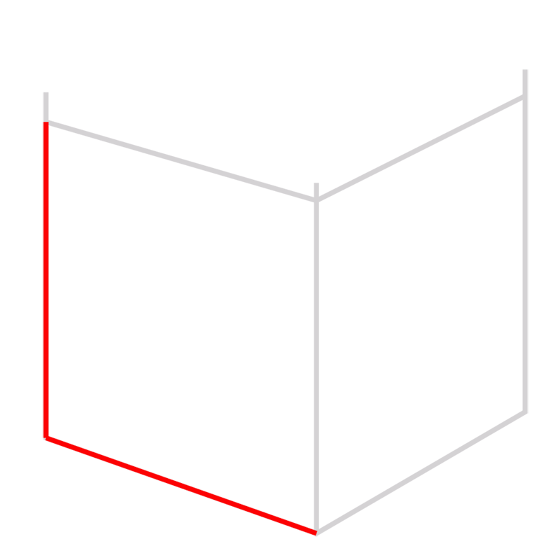 Learn easy to draw Impossible Cube step 02