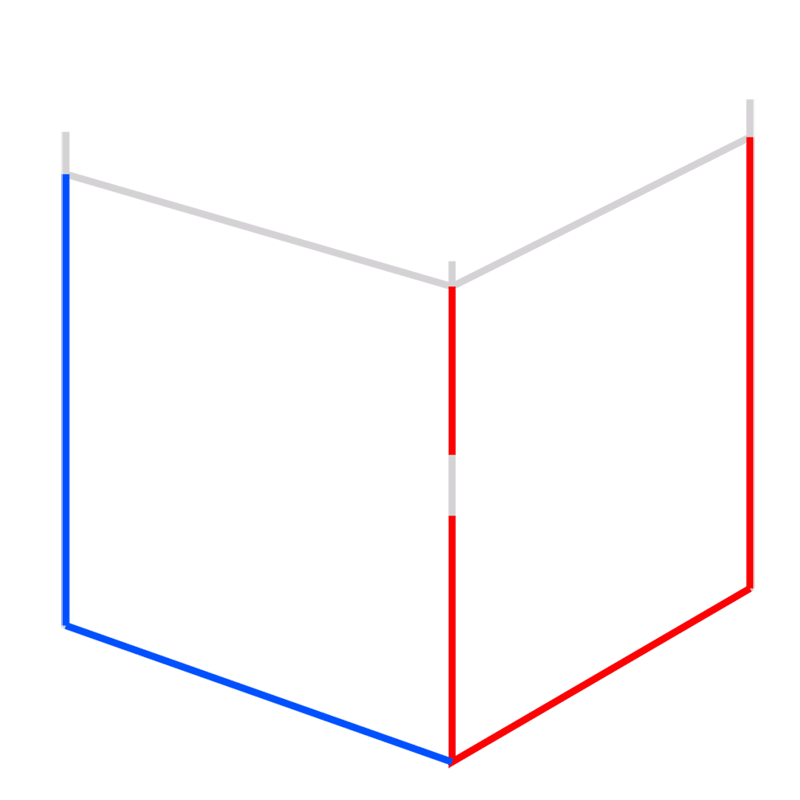 Learn easy to draw Impossible Cube step 03
