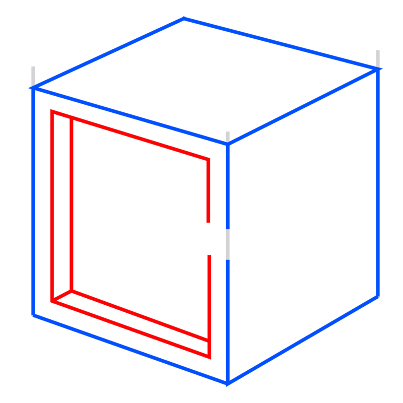 Learn easy to draw Impossible Cube step 05