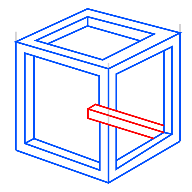Learn easy to draw Impossible Cube step 08