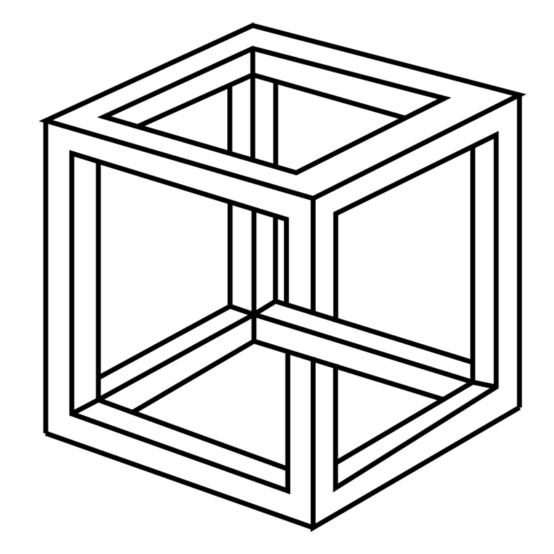 Learn easy to draw Impossible Cube step 11