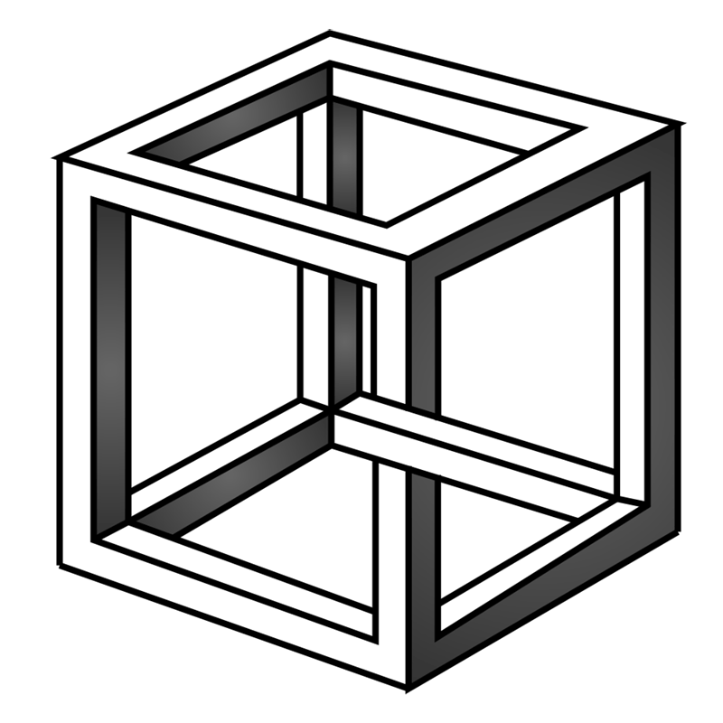 Learn easy to draw Impossible Cube step 12