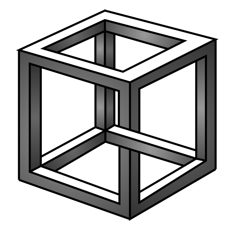 Learn easy to draw Impossible Cube step 13