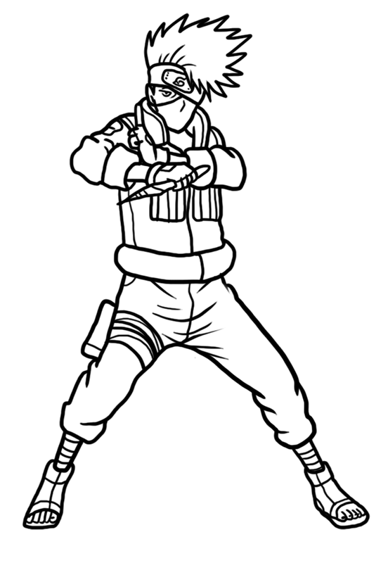 Learn easy to draw Kakashi Naruto step 11