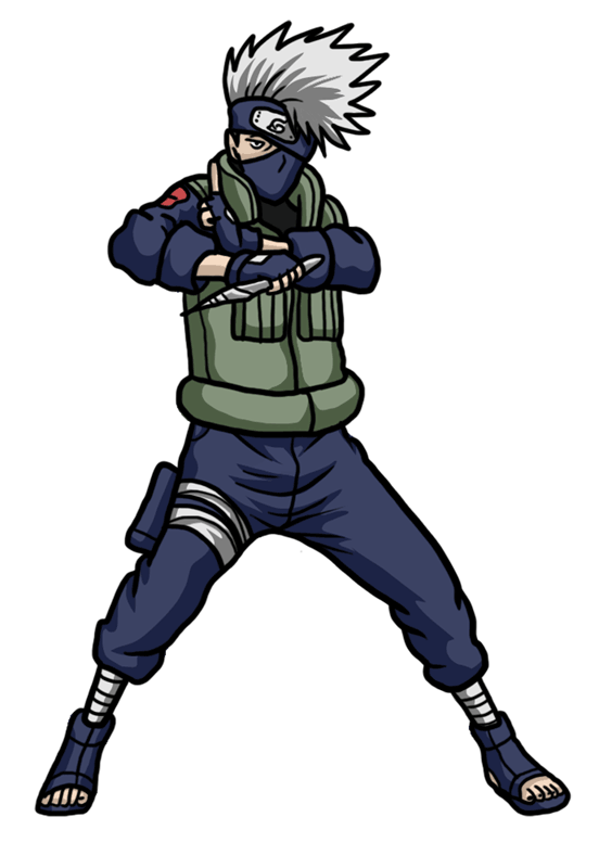Learn easy to draw Kakashi Naruto step 12