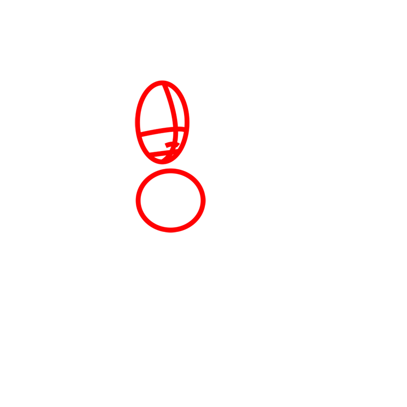 Learn easy to draw Katara Avartar step 01