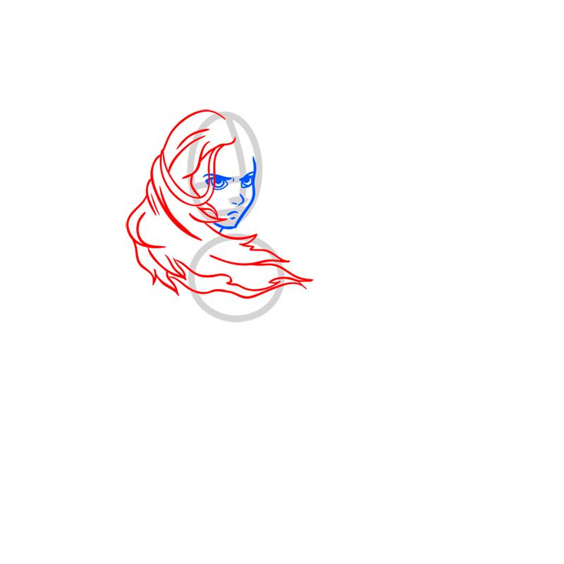 Learn easy to draw Katara Avartar step 04
