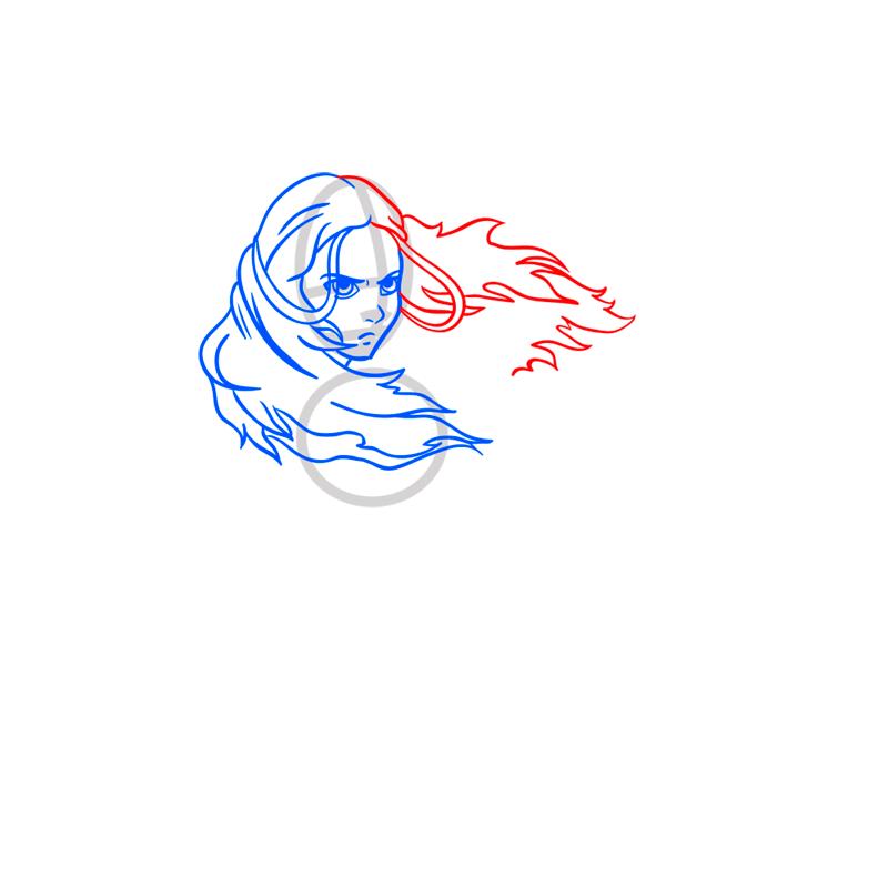 Learn easy to draw Katara Avartar step 05