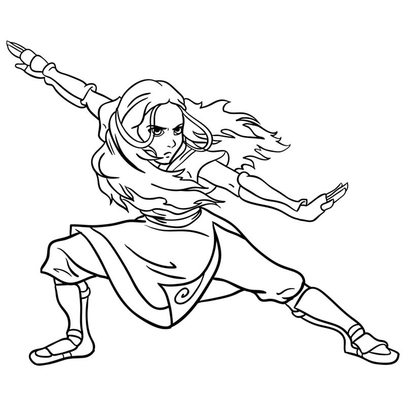 Learn easy to draw Katara Avartar step 11