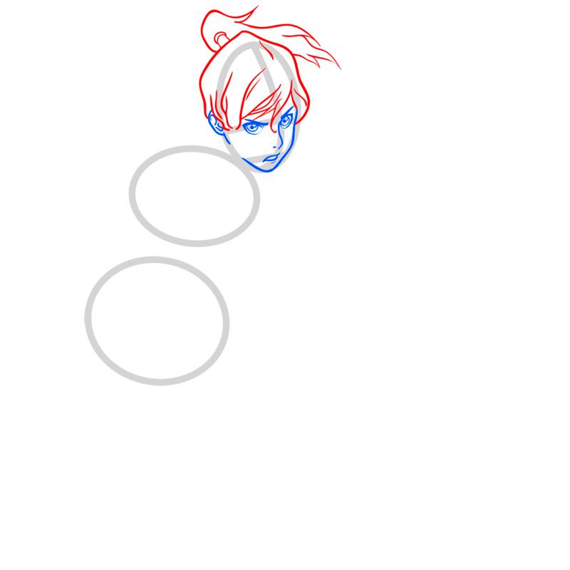 Learn easy to draw Korra Avatar step 04