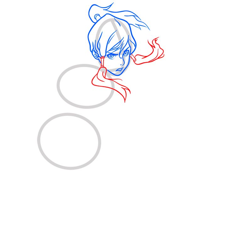 Learn easy to draw Korra Avatar step 05