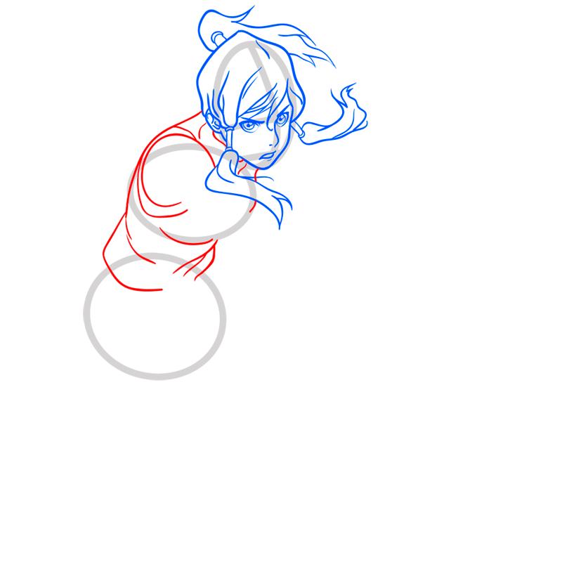 Learn easy to draw Korra Avatar step 06