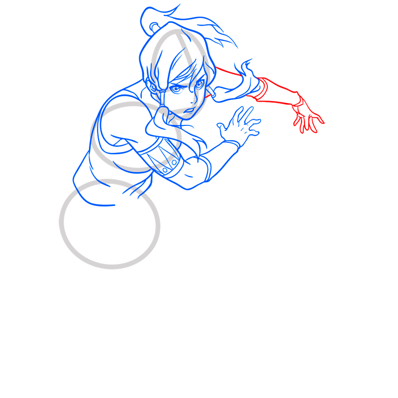 Learn easy to draw Korra Avatar step 08