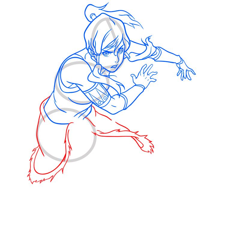 Learn easy to draw Korra Avatar step 09