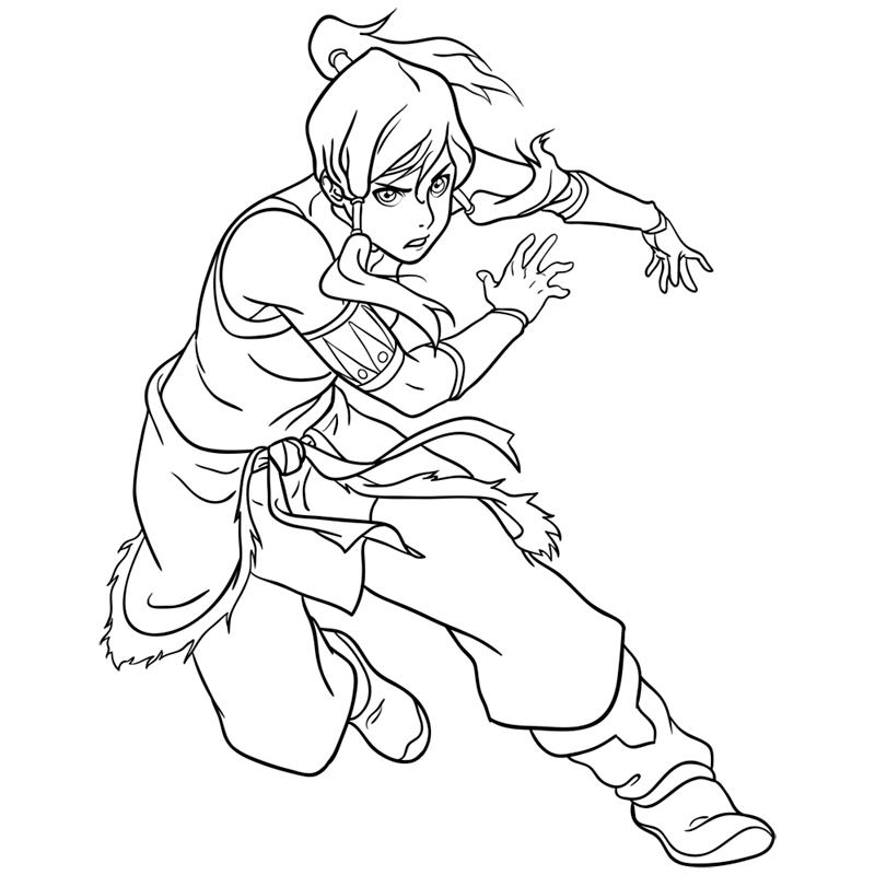 Learn easy to draw Korra Avatar step 12