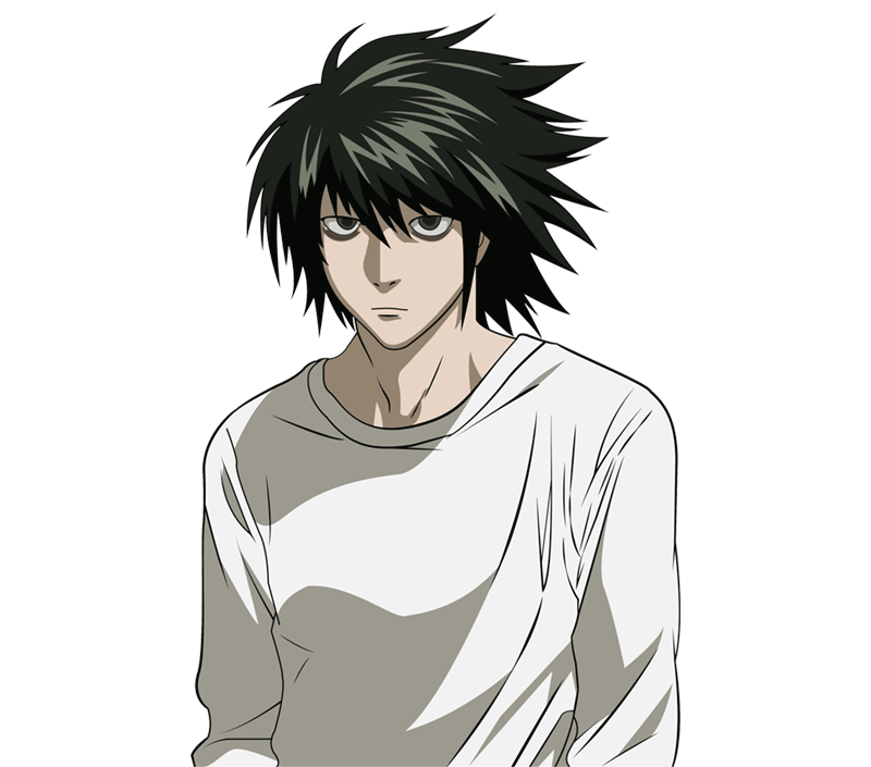 Learn easy to draw L Lawilet Death Note step 16