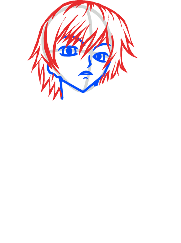 Learn easy to draw Lelouch Lamperouge Code Geass step 03