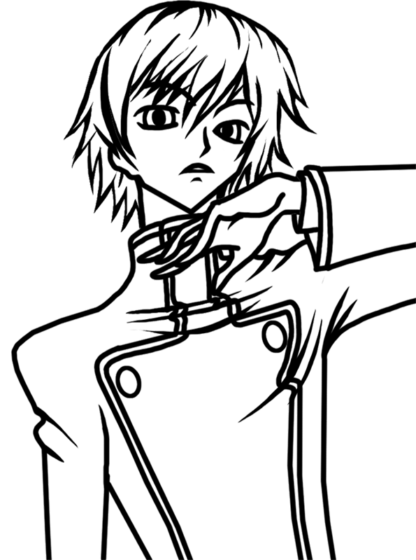 Learn easy to draw Lelouch Lamperouge Code Geass step 07
