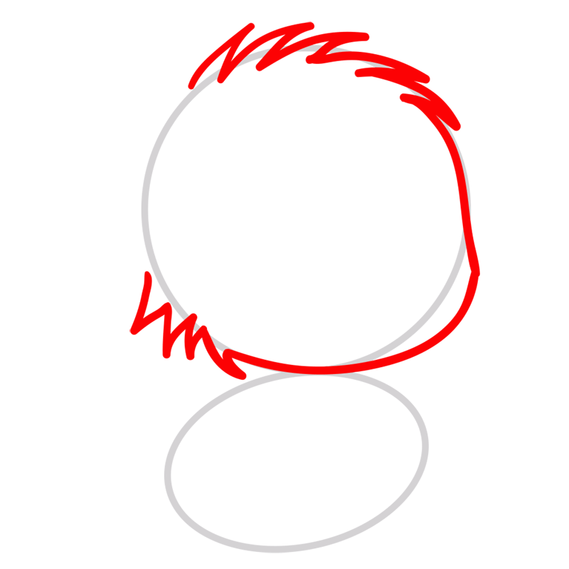 Learn easy to draw Little Cat step 02