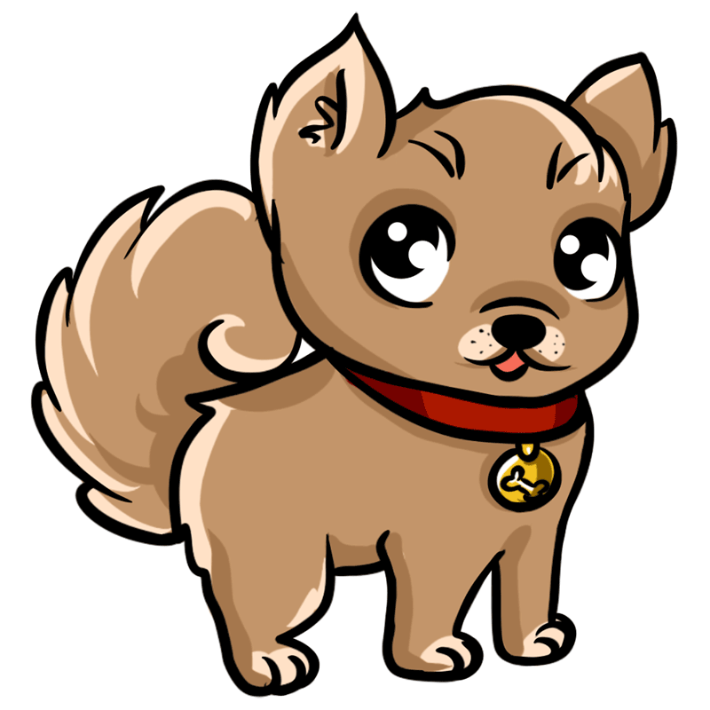 Learn easy to draw Little Dog step 09