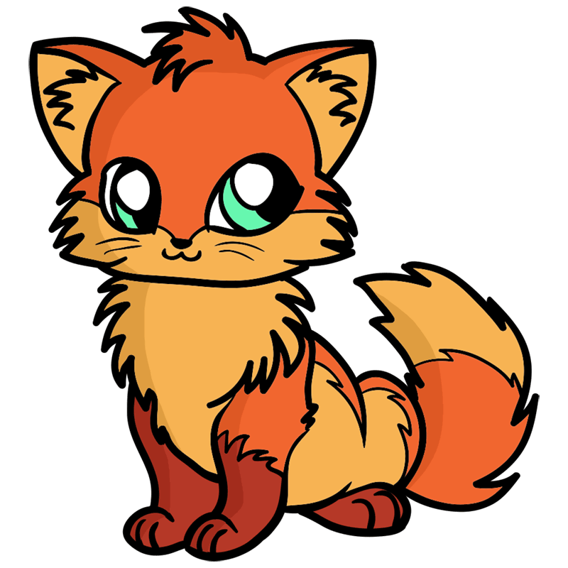 Learn easy to draw Little Fox step 00