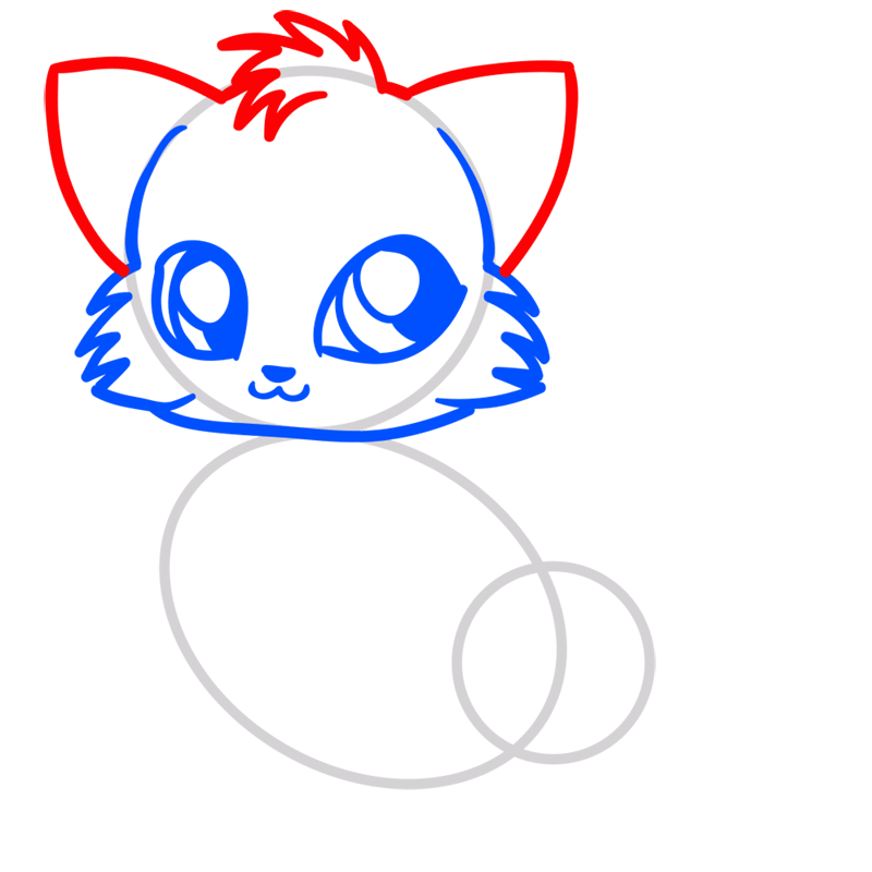 Learn easy to draw Little Fox step 04