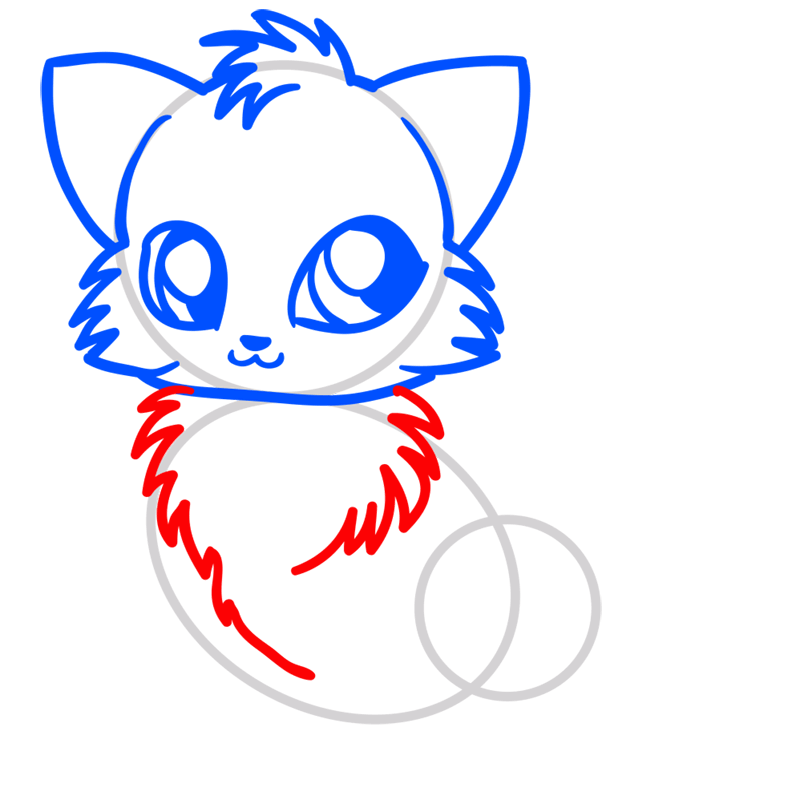 Learn easy to draw Little Fox step 05