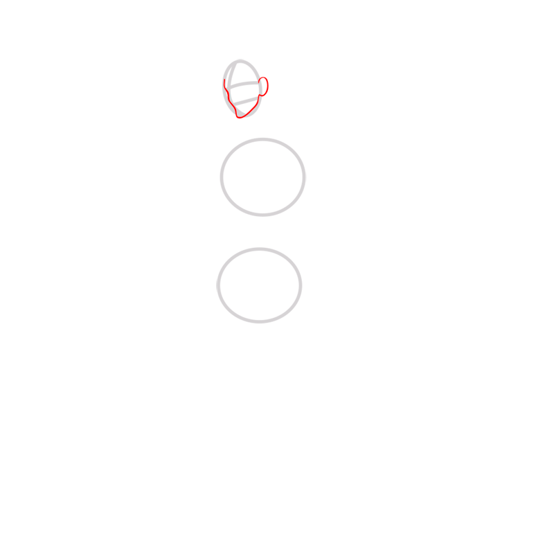 Learn easy to draw Mako Avartar step 02