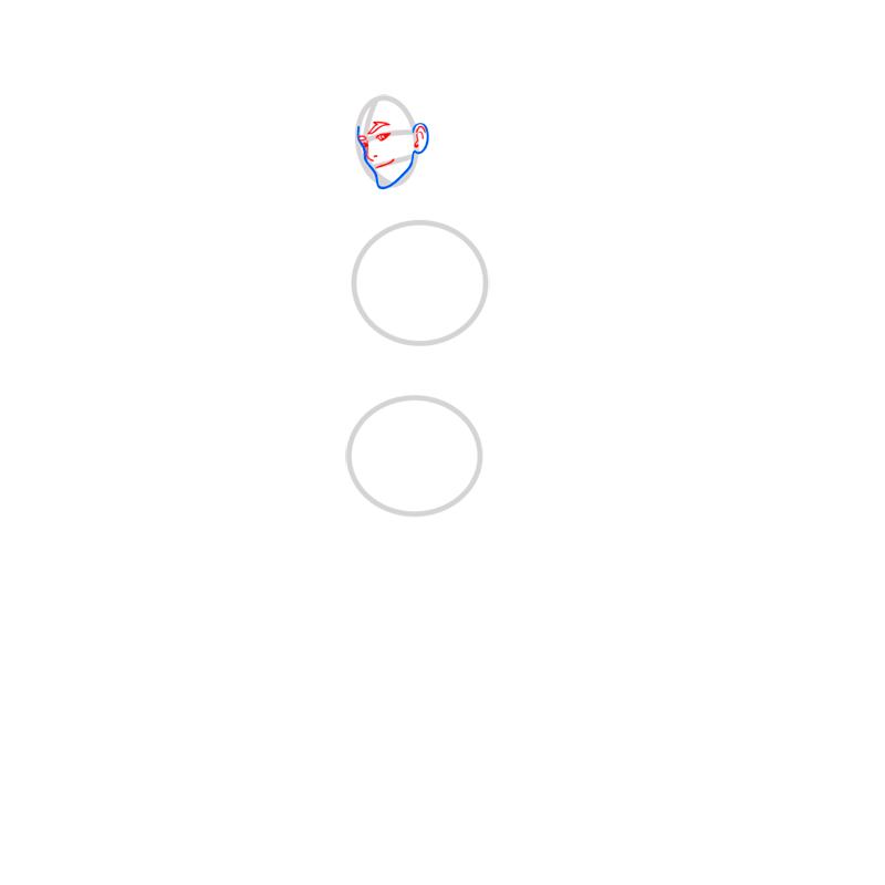 Learn easy to draw Mako Avartar step 03