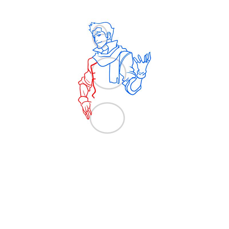 Learn easy to draw Mako Avartar step 07