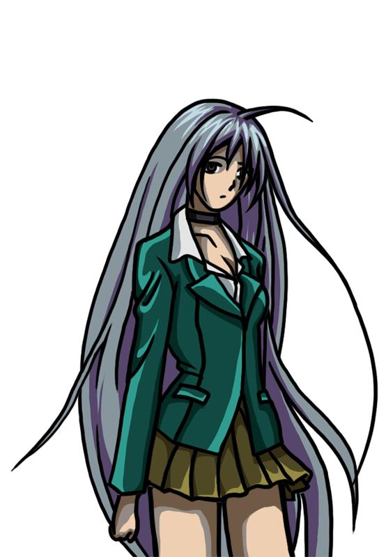 Learn easy to draw Moka Akashiya Rosario Vampire step 00