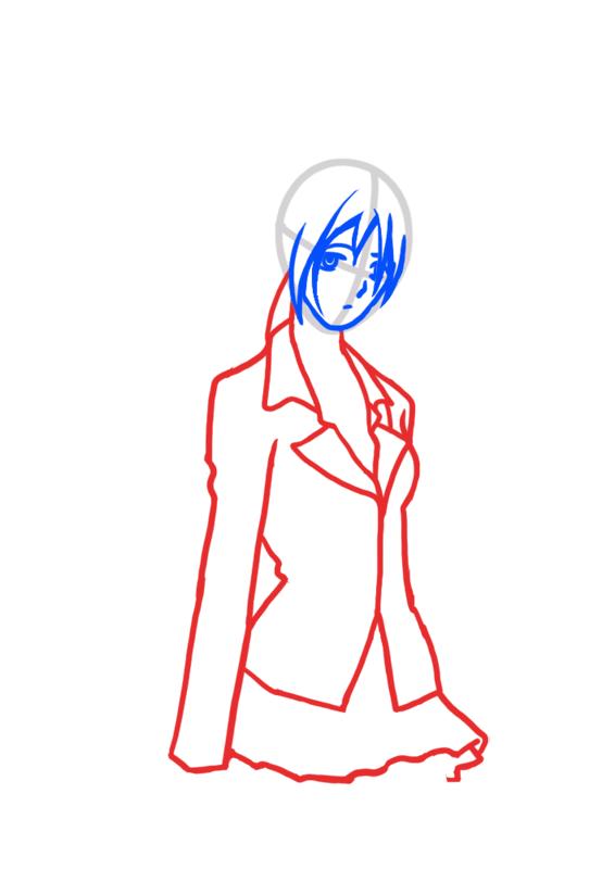 Learn easy to draw Moka Akashiya Rosario Vampire step 03