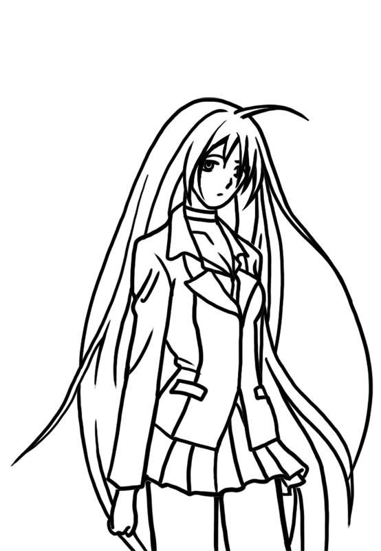 Learn easy to draw Moka Akashiya Rosario Vampire step 07