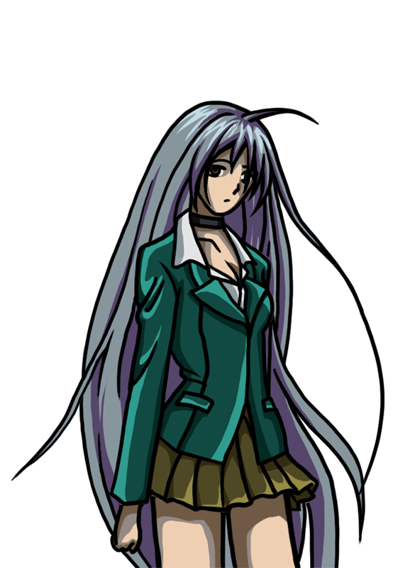 Learn easy to draw Moka Akashiya Rosario Vampire step 08
