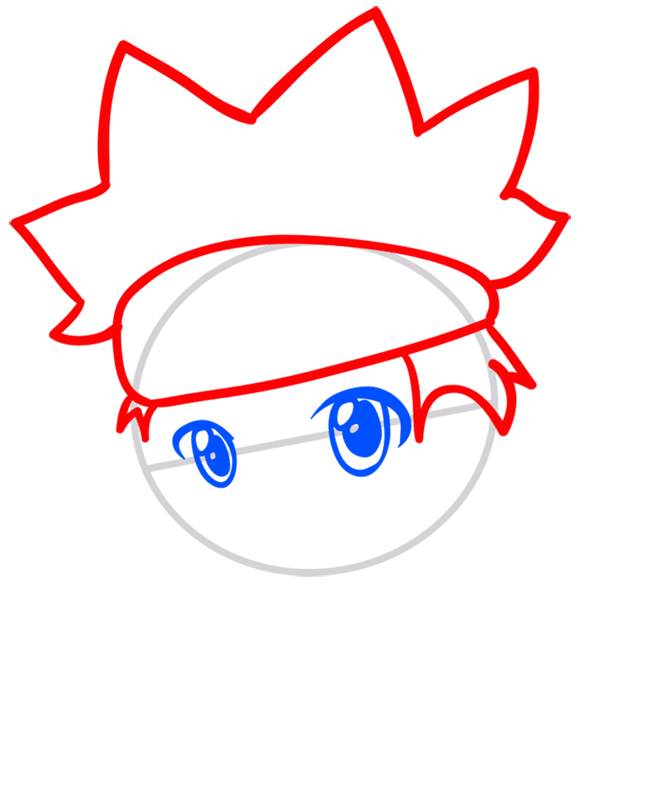 Learn easy to draw Naruto Chibi step 03
