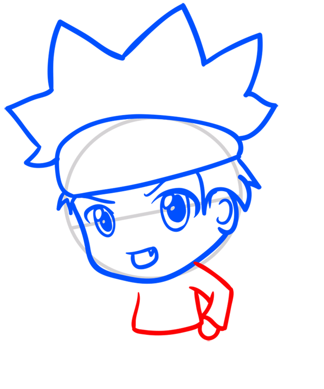 Learn easy to draw Naruto Chibi step 05