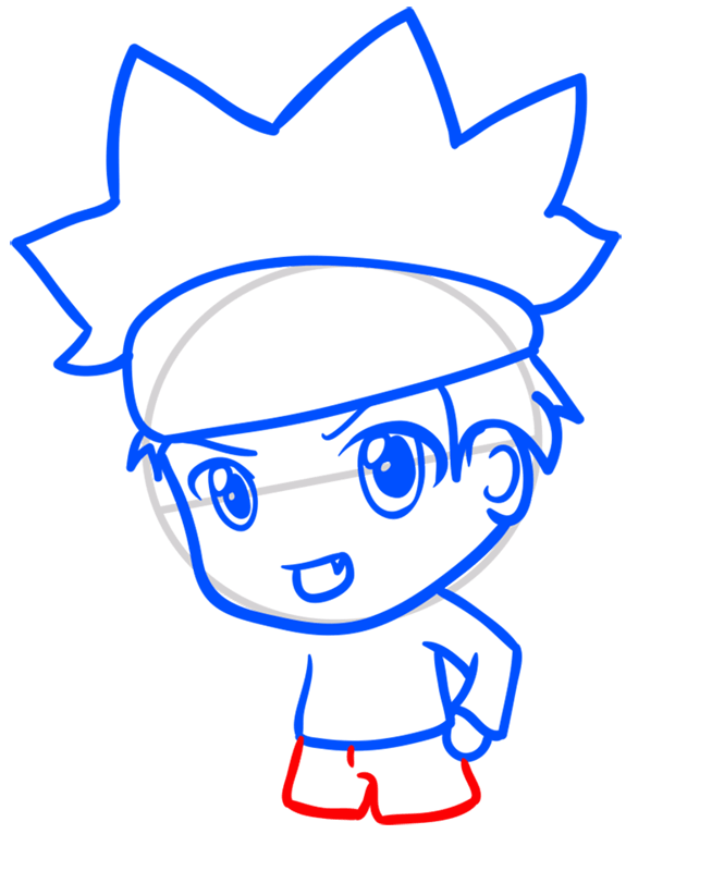 Learn easy to draw Naruto Chibi step 06